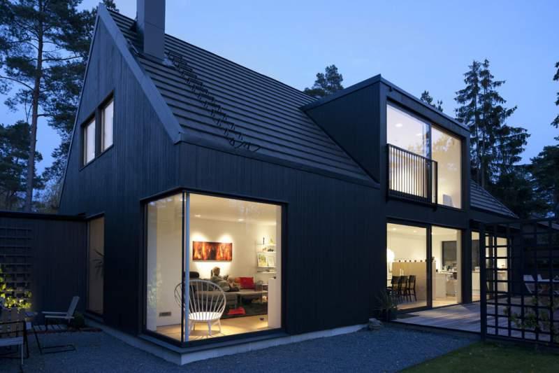 проекты домов с панорамными окнами фото